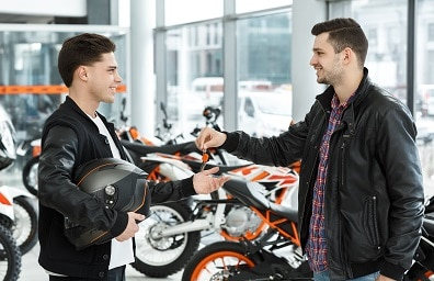 Man gets key to new motorcycle