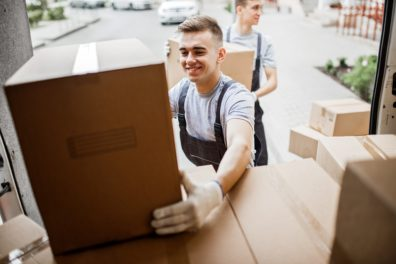 Small Business Owners Deliver Packages