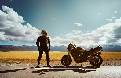 Motorcycle desert