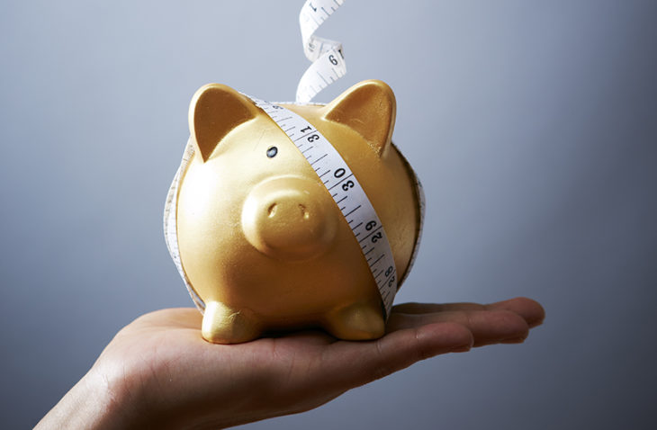 Piggy bank with Measuring tape