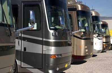 RVs for sale on lot 2