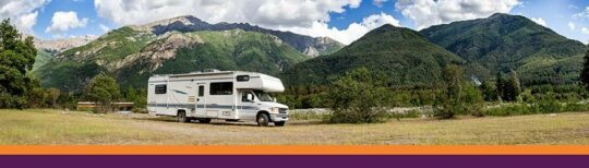 RV in countryside