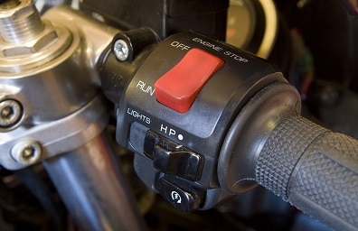 Motorcycle starter button