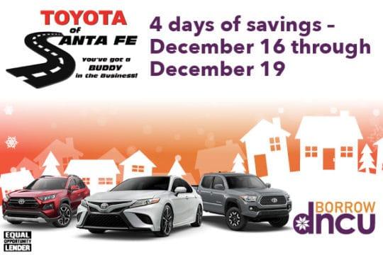 Toyota Of Santa Fe Sale For December 2020