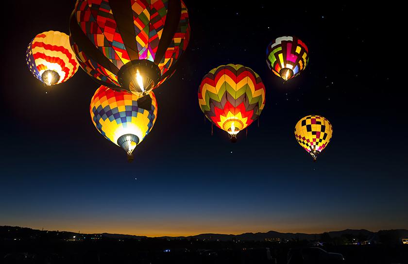 balloon fiesta at night in rio rancho