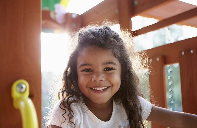 image of little girl smiling