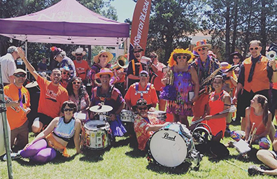 los alamos sciencefest dncu team with marching band