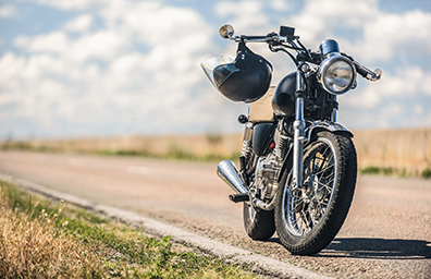 motorcycle on empty road