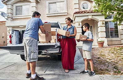 multi column buying a home and moving in family boxes