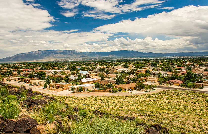 neighborhood in rio rancho by petroglyph national monument