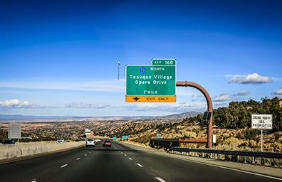 road between espanola and santa fe